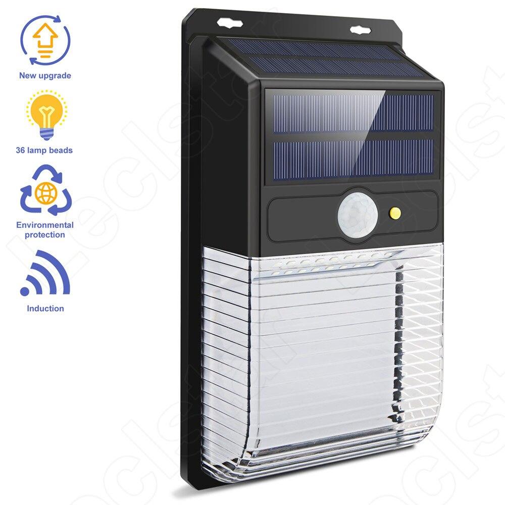Spotlight LED Solar Street Light Street Lamp with Motion Sensor Wall Garden Lights PIR Solar Powered Waterproof Outdoor Lighting (9)