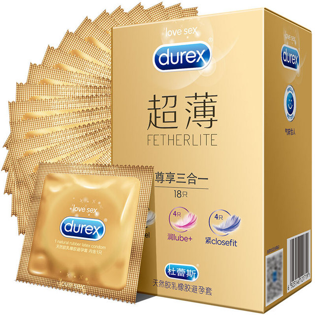 Durex 18Pcs/Pack Feel Lube Closefit Super Feeling 3 in1 Condoms Ultra Thin Sex Toy Condones