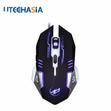 цена на 3200DPI Silence Click USB Wired Gaming Mouse Q9 Gamer 6 Buttons Optical Economics Computer Mice For PC Mac Laptop Game LOL Dota