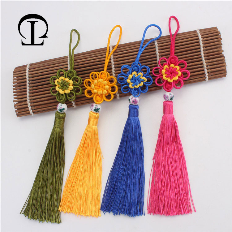 US $5.5 5% OFF5pcs/lot chinese knot tassel silk fringe bangs flower  tassel trim decorative tassels for curtains home decoration  accessoriesTassel