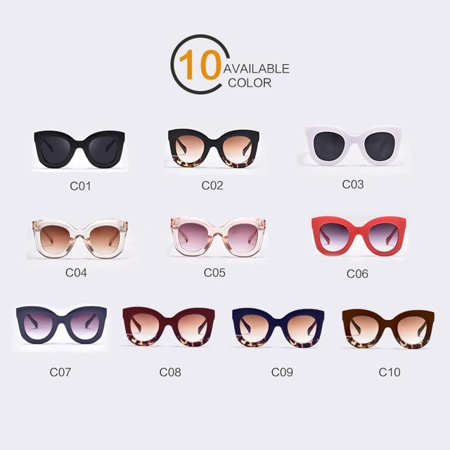 Winla 2017 Fashion Sunglasses Women Luxury Brand Designer Vintage Sun glasses Female Rivet Shades Big Frame Style Eyewear UV400 5