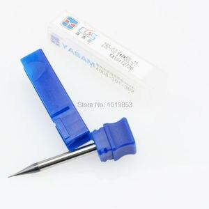 Image 3 - CGS 250 0.3mm 0.4 0.5 0.6x4x50L 0.7mm 0.8 0.9 Katı Tungsten Karbür küçük Mikro Çaplı End Mill gümüş işleme veya 50HRC