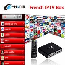Qhdtv/выберите арабский французский IPTV Ki плюс Android TV Box DVB-T2/DVB-S2 Smart TV Европа IPTV Amlogic S905 Quad Core 64-бит 1 ГБ/8 ГБ