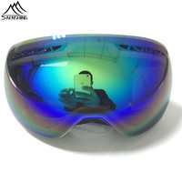 2015 Dobule Fog Mirror Women Ski Goggles Riding Glasses Outdoor Climbing For Men Outdoor Professional Skiing
