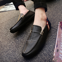 Hot Sale Moccasins Summer Shoes 2018 Men Patchwork Casual Shoes Faux Leather Loafers Comfortable White Driving Shoes 39-45