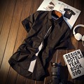 MIUK Большой Размер Хлопок Сорочка Homme 5XL 4XL 6 Цвет Черный белый Красный С Коротким Рукавом Camisa Masculina Бренд Clothing Men Shirts 2017
