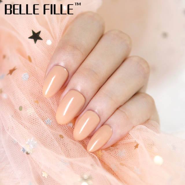 a41644160ad BELLE FILLE 8ml Gel Nail Polish Soak Off Nude Pink Color UV Gel Polish  Lacquer Nail