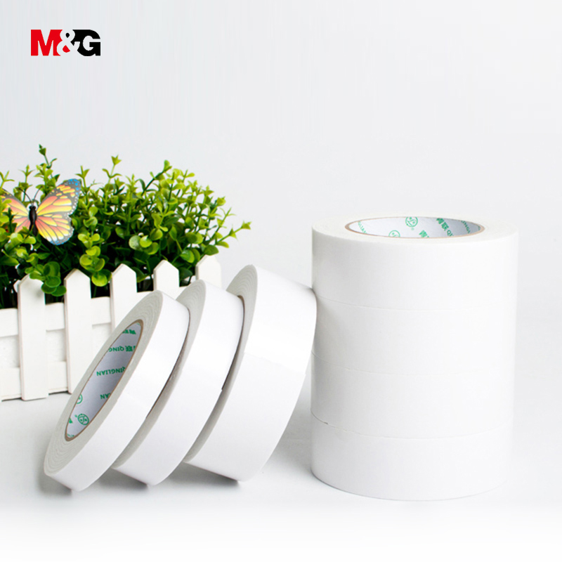 M&G 4.6M Sponge Double-sided Adhesive Strong Fixed Thickened Advertising Office Foam Rubber Foam Double-sided Tape Wholesale