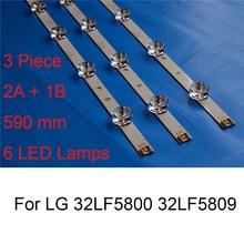 купить 3PCS Brand New LED Backlight Strip For LG 32LF5800 32LF5809 TV Repair LED Backlight Strips Bars A B TYPE Original Quality 6 Lamp по цене 1579.43 рублей