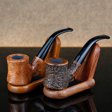 Free Tools Gift Set Flat Bottom Hammer Briar Pipe 9mm Filter Handmade Smoking Tobacco Engraved Mini Wood