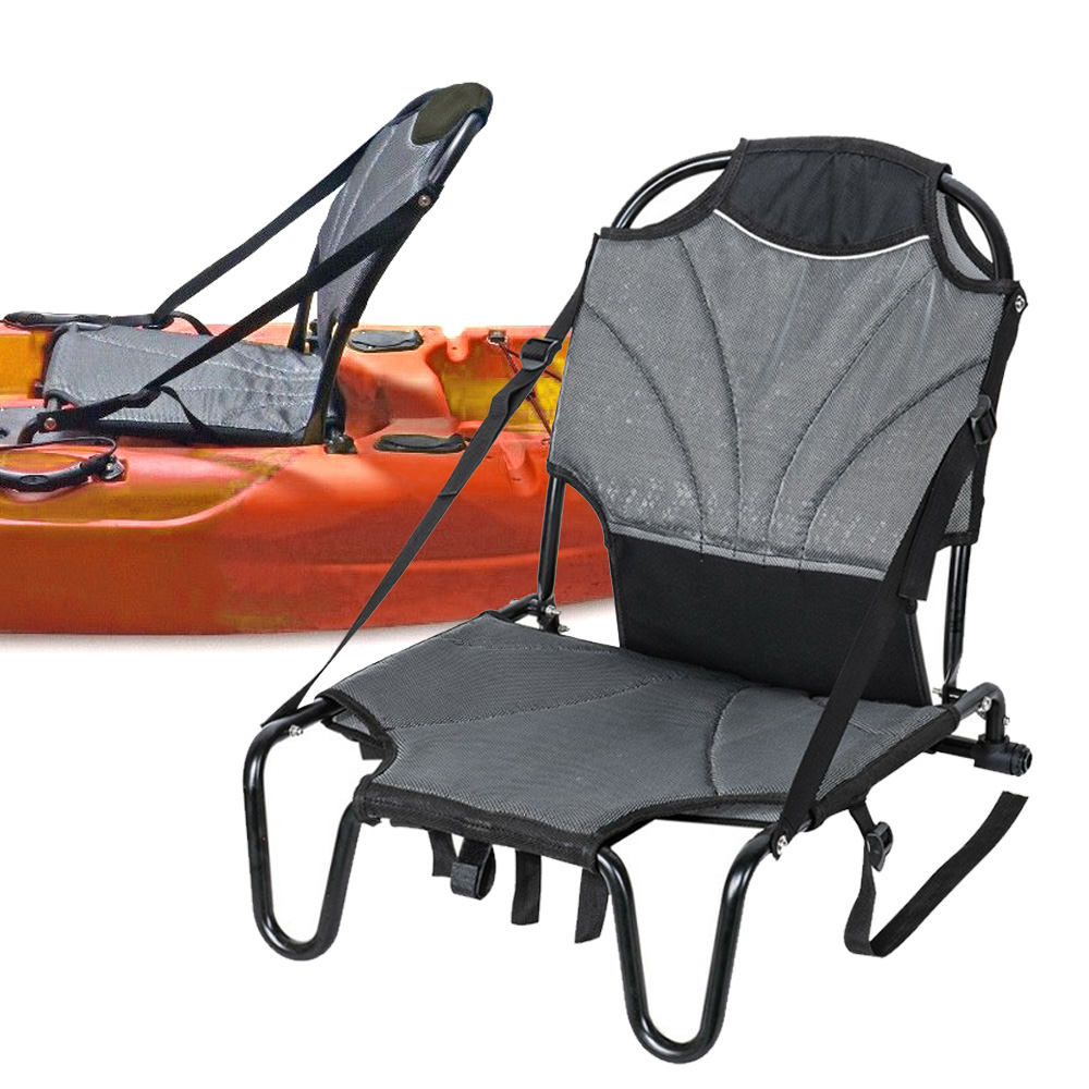 Canoe Kayak Cushion Aluminium Chair Seat Sit On Top Backrest Seat Inflatable Boat Lightweight Foldable Chair With Back Support