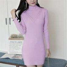 Sweater Dress Women Fashion Woman Cardigan Dresses Korean Knitted Elegant Sweaters OL Vestidos