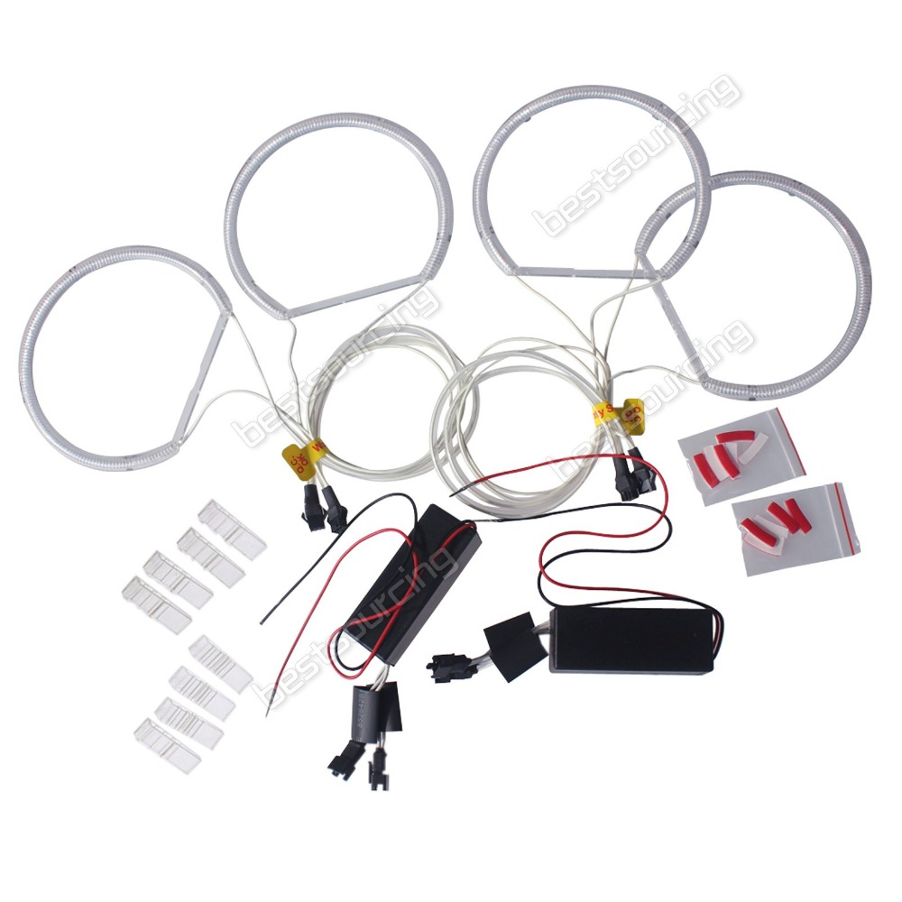 Wholesale Express Free Shipping 5sets/lot CCFL Angel Eyes Lamp Lights ring for E46 white lightingCA012) free shipping ccfl angel eyes for bmw e90 e90 non projector halo ring e90 ccfl angeleyes lights
