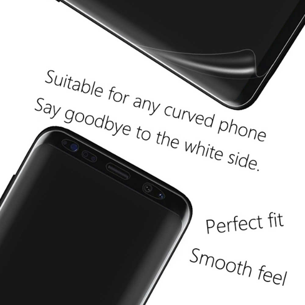 غطاء كامل هيدروجيل واقي للشاشة لسامسونج غالاكسي S10 زائد S8 S9 نوت 8 9 غشاء غير قابل للكسر لينة بولي TPU واقية