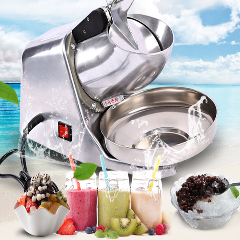 Commercial high-power household electric ice crusher ice block shaving machine shaved ice machine ZF ice crusher snow ice shaving machine easy operation high quality home use summer ice food making machine ice crushing machine zf