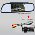 Цвет Автомобиля Камера Заднего вида для Mitsubishi Grandis Дакар Challenger Nativa Pajero Sport + 4.3 Дюймов Зеркало заднего вида Монитор