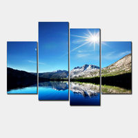 New Modular Pictures Modern Wall Art Home Decoration Printed Oil Modular Paintings Pictures 4 Panel HD