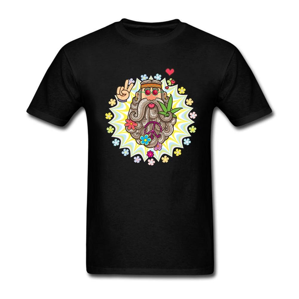 Hot Sale Hippie Print T-Shirt Men Printed Short-Sleeved Cotton Guardian Galaxy Mens T-shirt Real MadrID Royal Palace