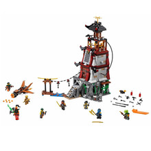 LEPIN 06037 850Pcs Ninja The Lighthouse Siege Model Building Minifigure Blocks Brick Kid Toys Compatible with  70594
