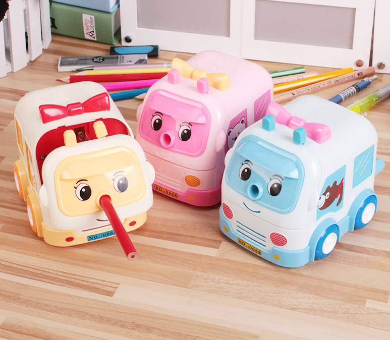 Cute car style mechanical pencil sharpener cartoon creative kawaii school sharpener for kids escolar papeleria chancery office deli 0620 manual pencil sharpener heavy duty quiet for office home and school school chancery stationery desk clamp included