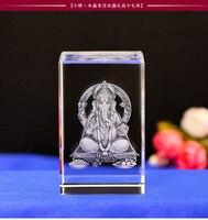 BEST festival gift # Efficacious HOME family Asia Talisman Thailand India Japan 3D Ganesha GANESH God BUDDHA Crystal statue