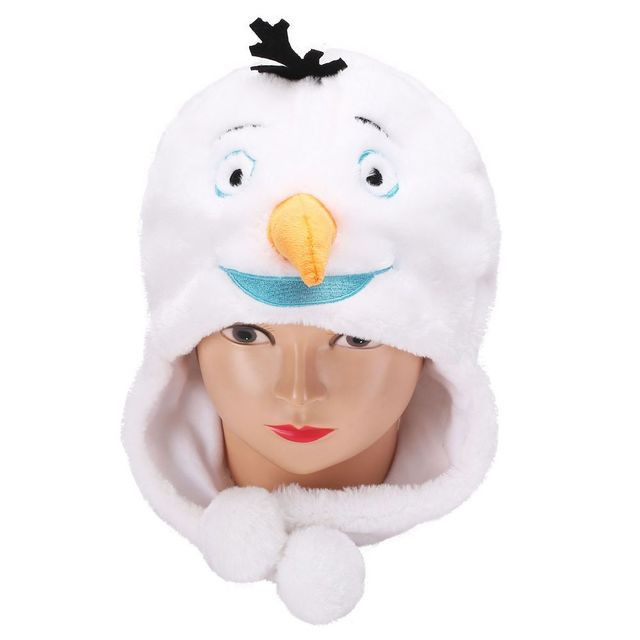 9a5d1c1e89a5a Lovely Plush Cartoon Funny Snowman Olaf Beanie Hat Winter Womens Mens  Children Kids Boys Girls Warm Fluffy Cosplay Costume