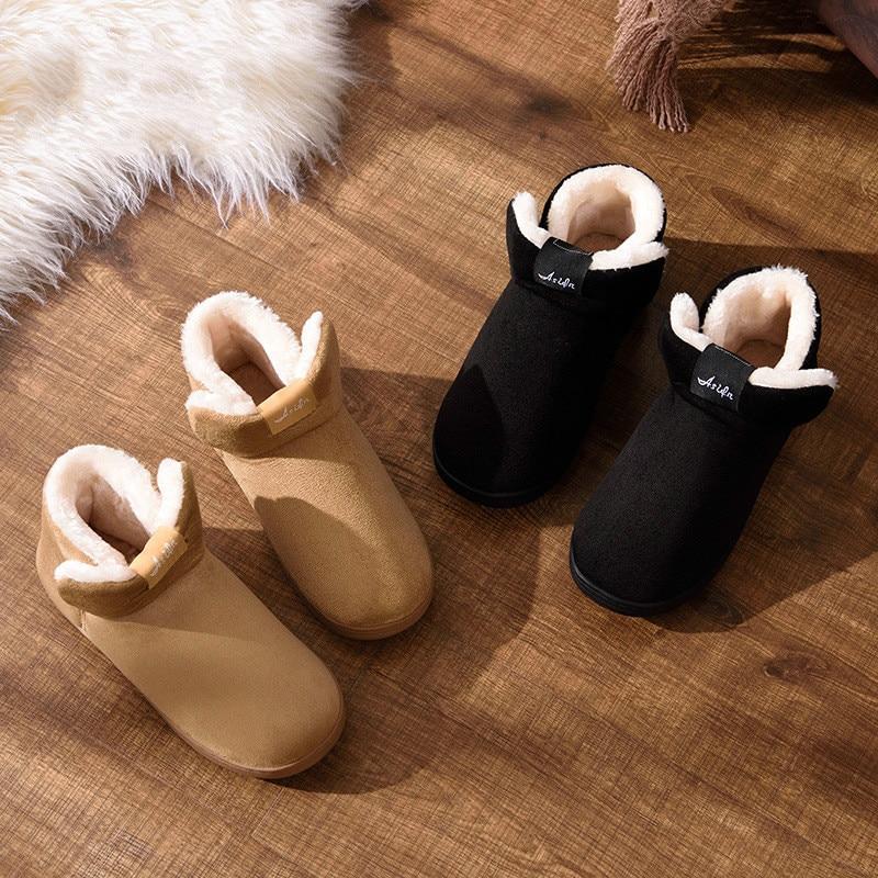 100% QualitäT Winter Pelz Schuhe Männer Hause Feste Warme Schuhe Weiche Plüsch Hausschuhe Männer Zapatos De Hombre Innen Komfortable Baumwolle Schuhe Männlichen 39-44 Chinesische Aromen Besitzen