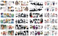 New 12Sheets in one Nail Art Decorations Anime Beauty Nail Art Water Transfer Sticker Full Wrap Decal Makeup Manicure BN253-264