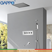 GAPPO shower Faucet shower mixer waterfall shower heads bathtub faucet rainfall taps wall mounted faucets bath sets system
