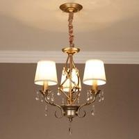 Iron art three head pendant lamp Cafe light crystal dining room lamp study lamp bedroom lighting pendant light ZA9205