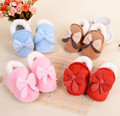 Infant Baby Booties Winter Warm Shoe Baby Shoes First Birthday Bow Crib Shoes Non-slip Prewalker baby's bootees