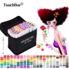 TouchFive 168 Colors Art Marker Set Sketch Copic Markers Alcohol Marker Set For Manga Stabilo School