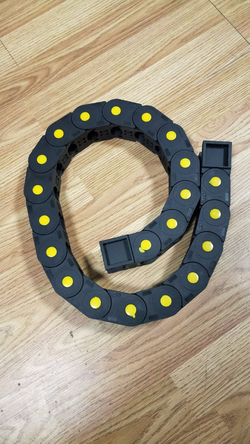25*38mm R55 Drag Chain 1000mm series Engiheering plastic cable Drag chains drag reduction
