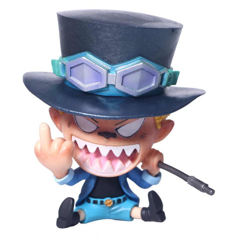 Аниме One Piece сабо средний палец забавный кот жест ПВХ фигурка модель игрушки