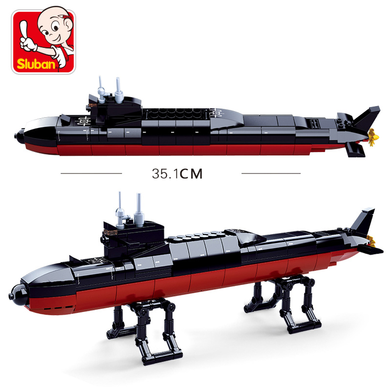 Image 5 - Compatible legoed navy ship Aircrafted Carrier military submarine sets boat warship model Building kits Blocks bricks kid toys-in Blocks from Toys & Hobbies