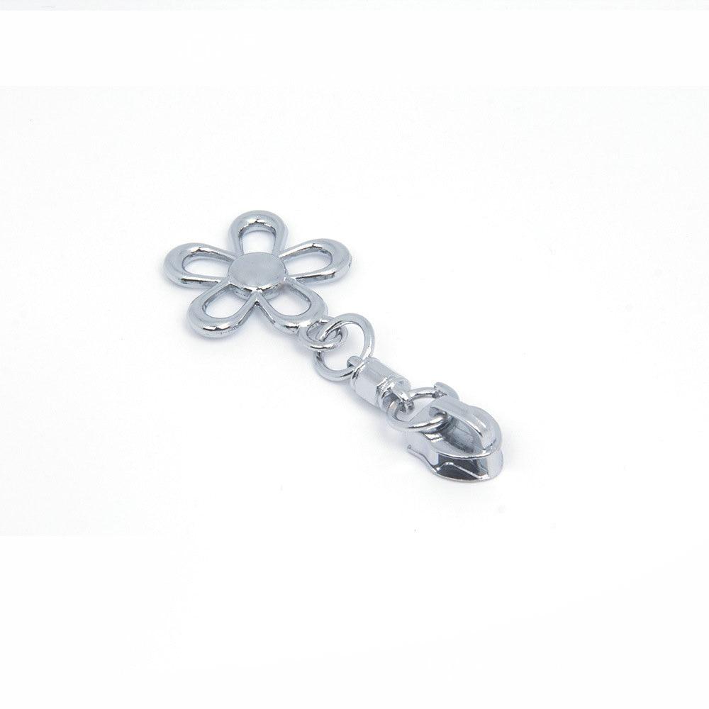 20PCS 5# Metal Zipper Head Lock Pull Zip For DIY Sewing Bag Accessories Two Way Zipper for Women Purse Men Bags Luggage Silver