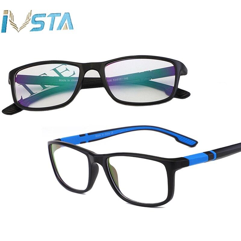77a101388 IVSTA Computador Óculos Anti Raios Azuis Jogos Bloqueando a Luz UV400 Óculos  Óculos Homens Esportes Miopia Vidros Ópticos TR90