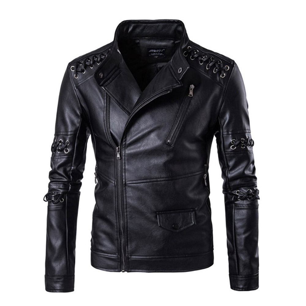 Men Leather Jacket 2018 Genuine Leather Clothing Motorcycle Jacket Slim Stand Collar Men Autumn Thick Winter Warm Clothing Coats