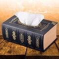 Europäischen stil retro tissue box kreative auto leder box alten buch aufbewahrungsbox papier handwerk Kunst feuchttücher box|Taschentuchboxen|Heim und Garten -