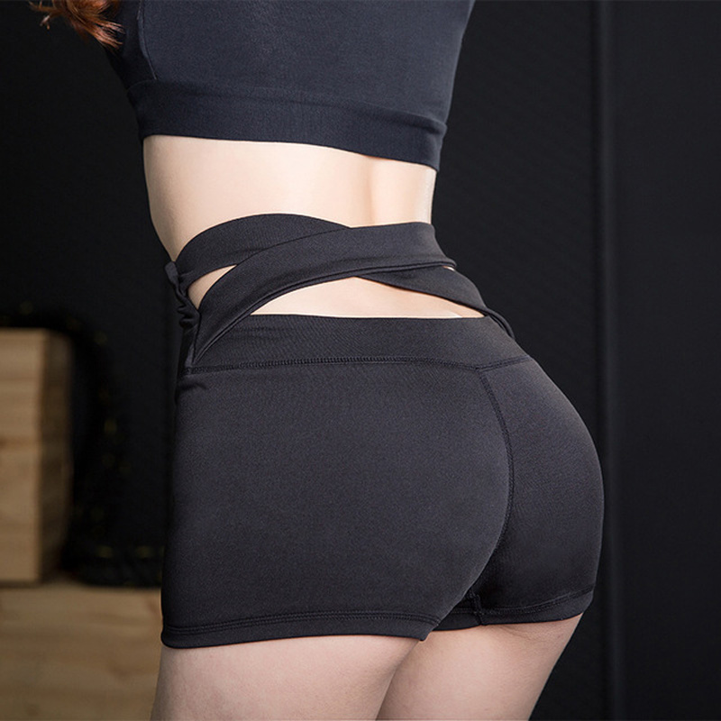 Sexy Women Fitness Shorts Running Sport Yoga Shorts Compression High Waist Exercise Dry Quick Jogging Pants Gym Tights Butt Lift(China)