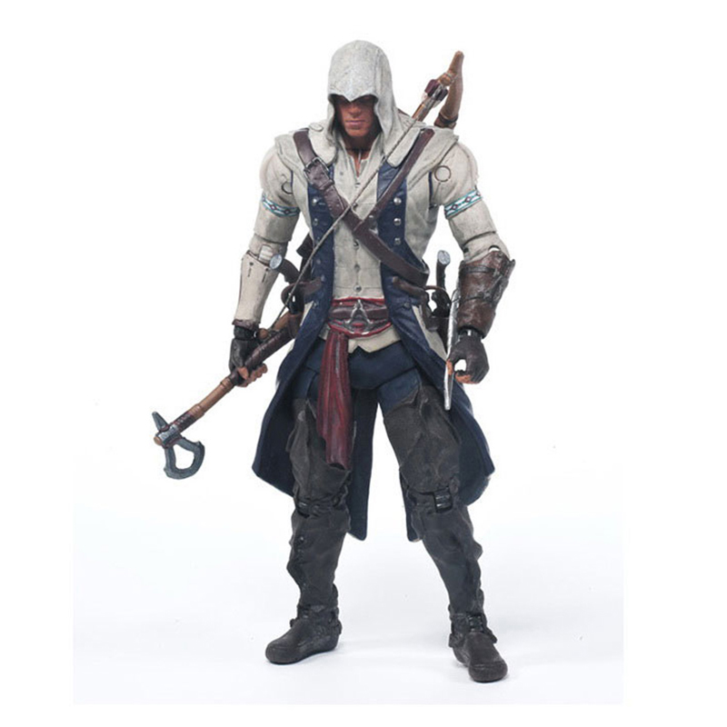 Assassins Creed 4:Black Flag Games Figurine Connor 15cm PVC Model Figma Assassin Creed Hidden Blade Nendoroid Toy For Collection assassins creed 4 black flag games figurine connor 15cm pvc model figma assassin creed hidden blade nendoroid toy for collection