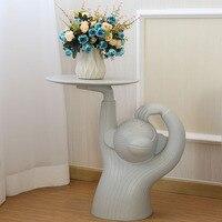 Нордическая обезьяна чайный столик дизайн креативный боковой стол Смола искусство и ремесло животные лоток для маникюрных принадлежносте