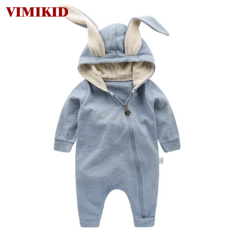 VIMIKID Newborn Baby Girls Boys Clothing Romper Cotton Long Sleeve Jumpsuit Playsuit Bunny Outfits One piecer 3D Ear Clothes newborn infant baby girls boys long sleeve clothing 3d ear romper cotton jumpsuit playsuit bunny outfits one piecer clothes kid