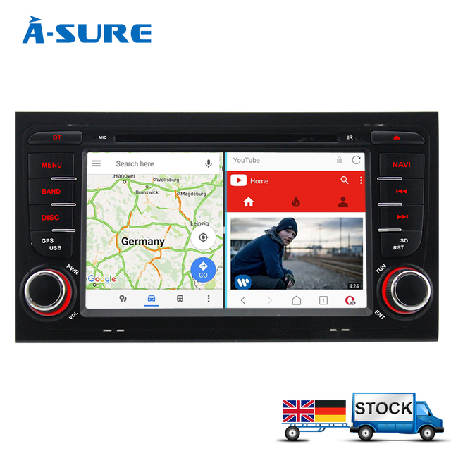 """a sure 2 din 7"""" android 7.1 car dvd player for audi/a4/s4 rs4 8e 8f"""
