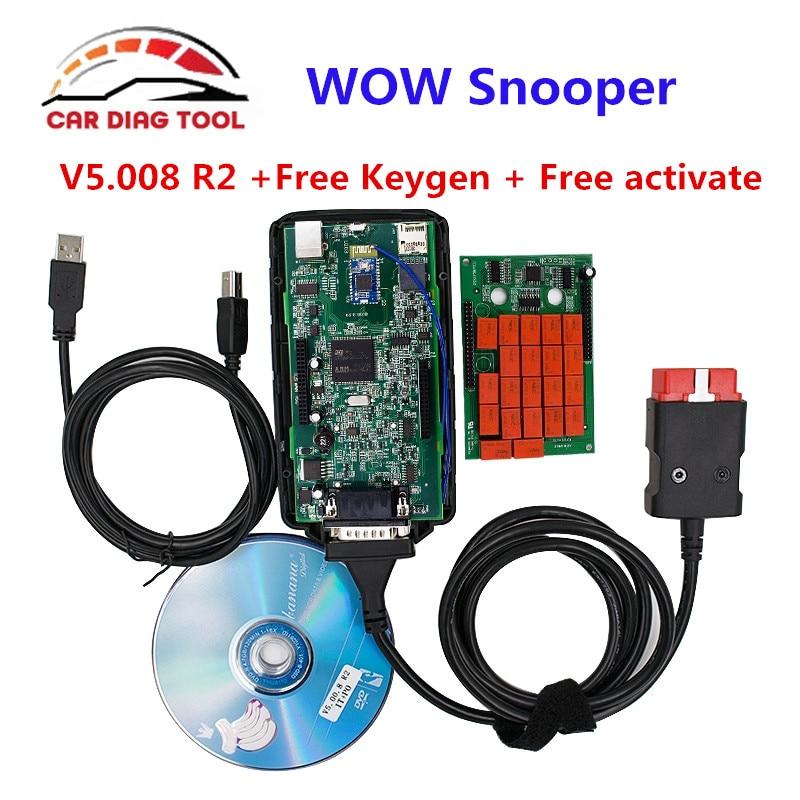 Prix pour 2017 WOW Snooper V5.008 R2 CDP Pro avec/sans Bluetooth WOW CDP keygen Livraison Activer Snooper outil de diagnostic Livraison gratuite