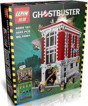 New LEPIN 16001 4695Pcs Ghostbusters Firehouse Headquarters brinquedos Model set Building Kits Model Minifigure Compatible 75827