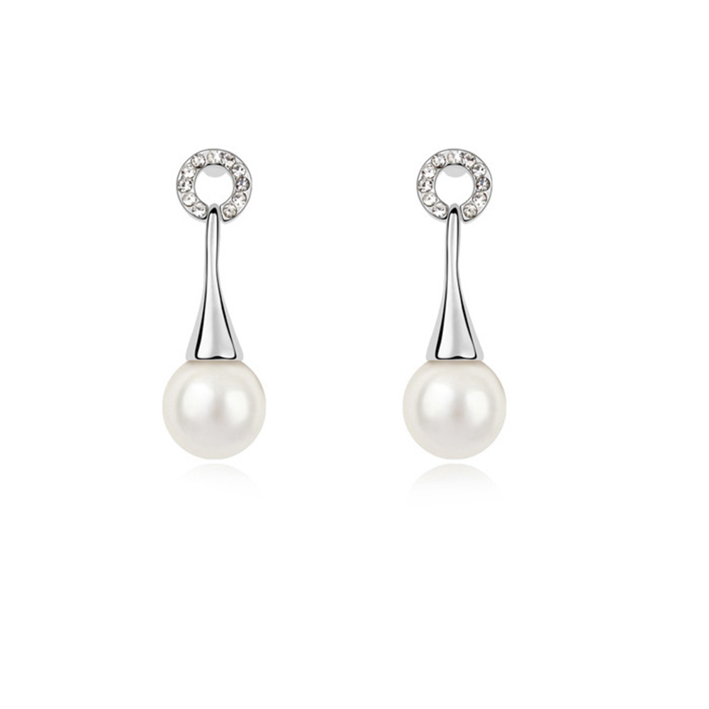 2016 gift for girlfriend! Fashion charming pearl earrings With ...