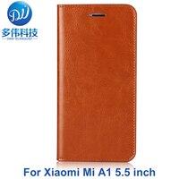 Heißer Verkauf Flip Echtem Leder Schutzhülle Telefon Fall Für Xiaomi Mi A1 Echtlederbezug Fundas Einbauschlitz Mit stehen-in Schiebehüllen aus Handys & Telekommunikation bei