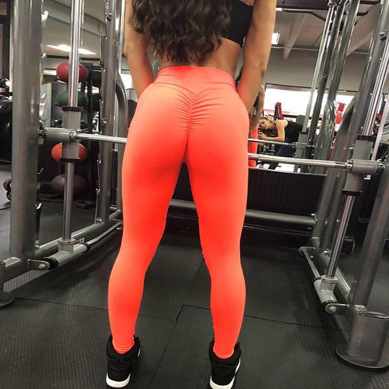 Auyiufar Ruched Women Pants Push Up Jeggings Sporty Female Fitness Elastic Trousers 2018 Summer Fashion Girls Athleisure Pants Лосины