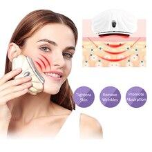 Ultrasonic Neck Face Massager Vibration Anti Wrinkles Remover Double Chin LED Photon Light Heating Gua Sha Facial Lift Machine